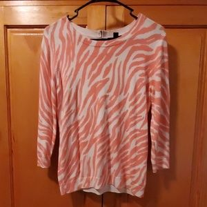 Gap zebra striped 3/4 sleeve